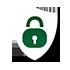 padlock and shield icon