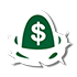 egg with a dollar sign on it in a nest icon