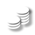 two stacks of coins icon