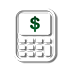 calculator with dollar sign icon