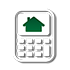 calculator and house mortgage payment calculator icon