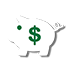 piggy bank with dollar sign icon