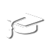 graduation cap student loan icon