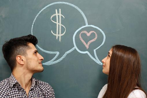 Couple Talking Money