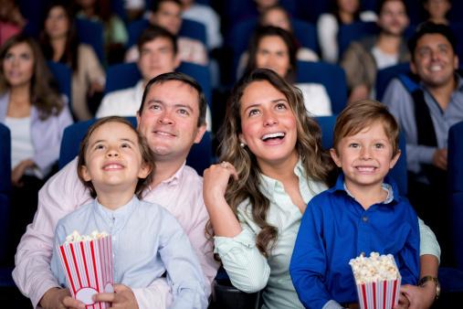 Family at movie
