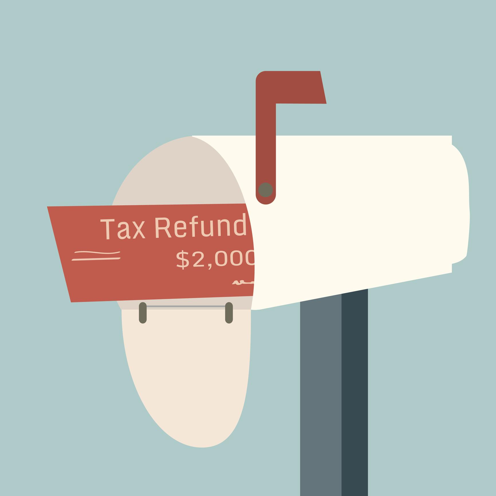 Tax return in a mailbox