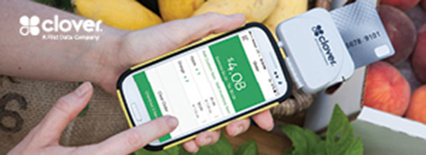 paying on your phone with Clover