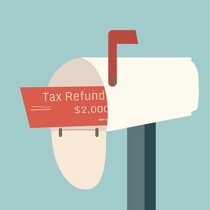 Tax refund in mailbox